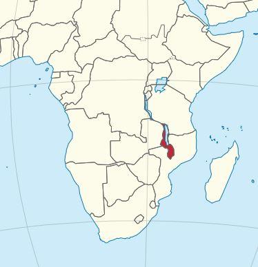 Malawi Karte groß